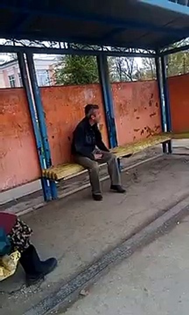 Drunk Russian Tries To Fight A Woman At The Bus Stop But Knocks Himself Out! [Full Episode]