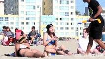 Guys Spray Hot Girls on Beach with Water Guns - Prank - Molo Nation