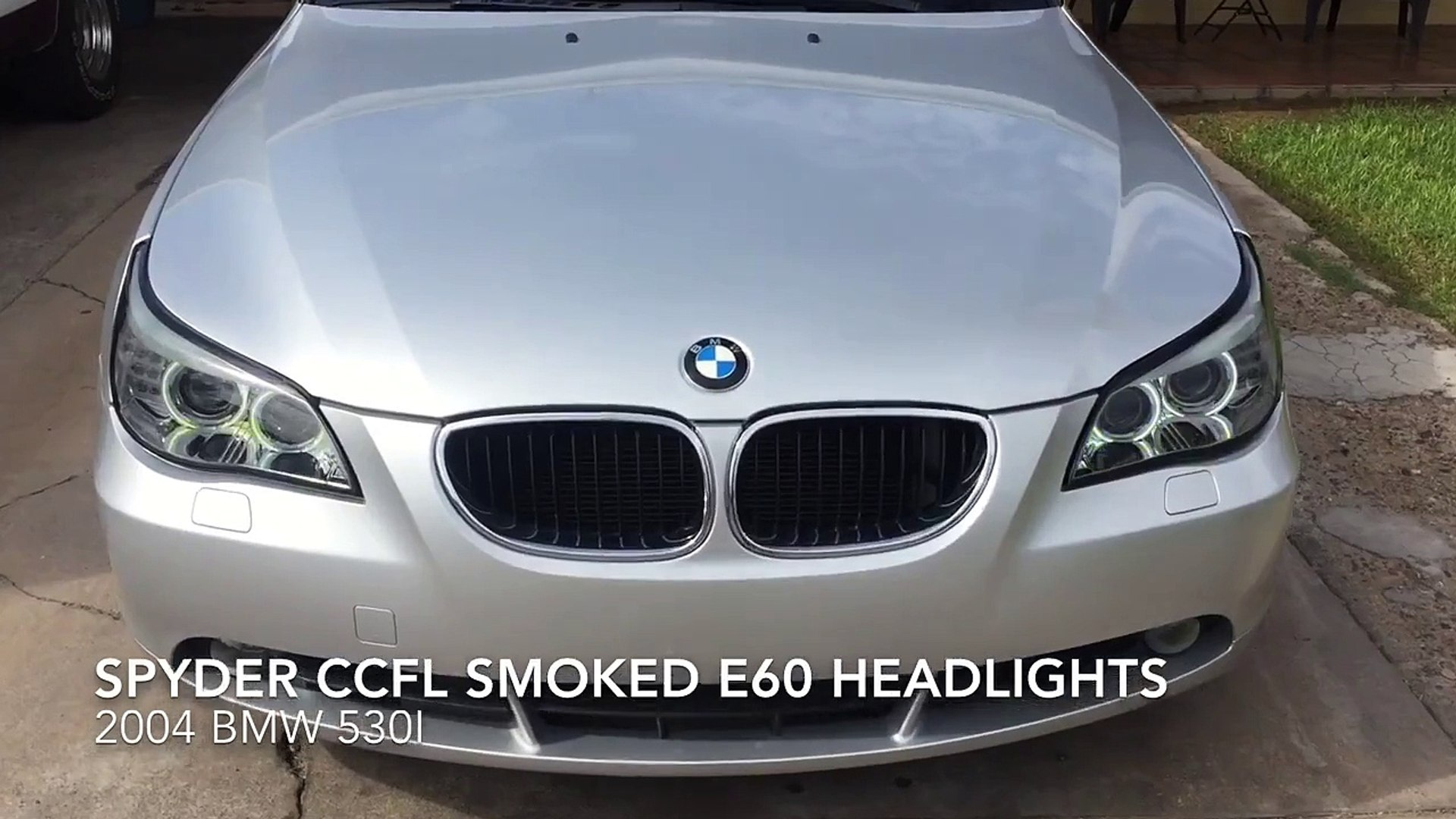 Bmw E60 Spyder Ccfl Halo Projector Headlights Review Video Dailymotion