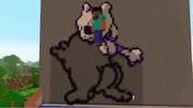 Minecraft Ps4 Pixel Art Time Lapse Champignon De Mario