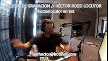 SESIÓN DE GRABACION DEL LOCUTOR ARGENTINO HÉCTOR ROSSI. Voces, actings e imitaciones. @hectorlocutor