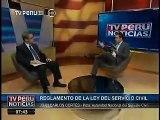 Entrevista a Juan Carlos Cortés, presidente de Servir en TV Perú Noticias -- 16.06.2014