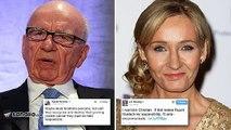 JK Rowling condemns Rupert Murdoch on Twitter