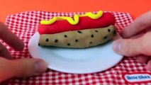 Play Doh Hot Dog Chicago Style Play Doh Fast Food DIY Play Dough Chicago Hot Dog DisneyCarToys