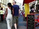 Walking camera - Old town Nice  - Rue Massena - Rue de France- Cote d´Azur July 2008