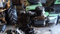 Briggs and Stratton B&S 5S Vintage engine motor twin start up