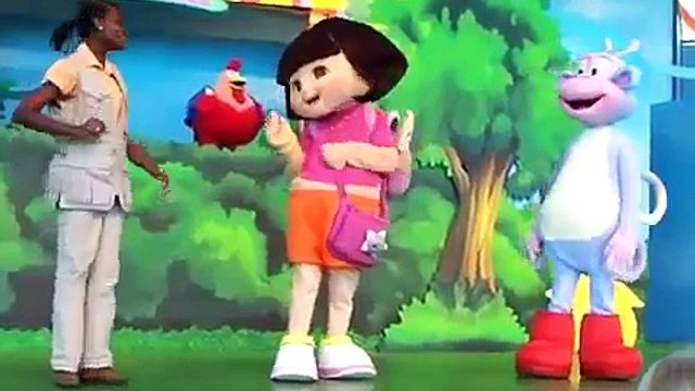 dora the explorer and Boots do the silly chicken dance
