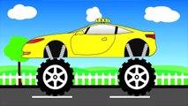Taxi Truck Monster Trucks For Children - Taksi truk Rakasa Truk Untuk Anak mega Anak Tv