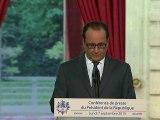 """Conférence de presse de Hollande: des annonces """"sans souffle"""", estime la presse"""