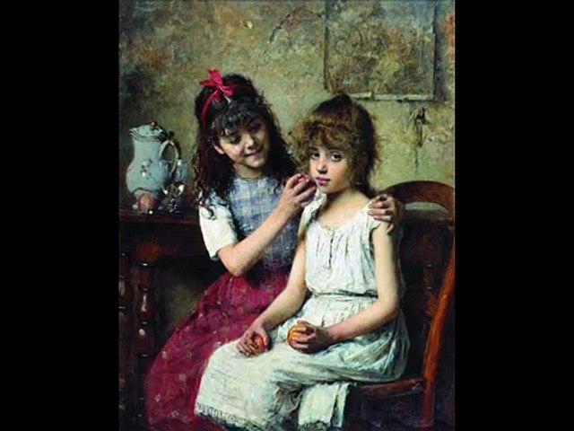 ALEXEI HARLAMOFF-Pintor RUSO- Le ruisseau de mon enfance-ADAMO. | Godialy.com