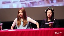 Fancam Eunjung Jiyeon funny moments at T ara fansign 150819