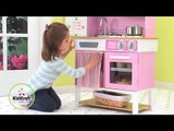 KidKraft Home Cooking Kitchen 53198 Girls Pink Play Toy Kitchen At http://wooden-toys-direct.co.uk