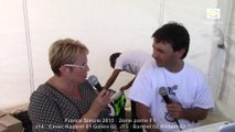 Interview Edwige Gueynard, France Simple, Sport Boules, Chalamont 2015