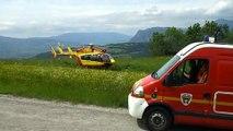 EC145 sécurité civile dragon 38 au décollage