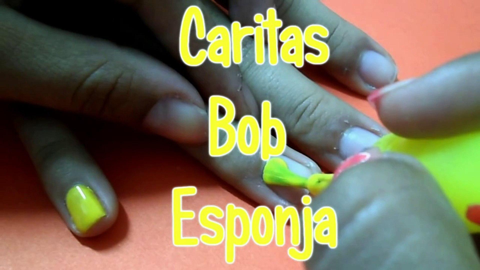 13 Decorado De Uñas Caritas Bob Esponja Yana Video