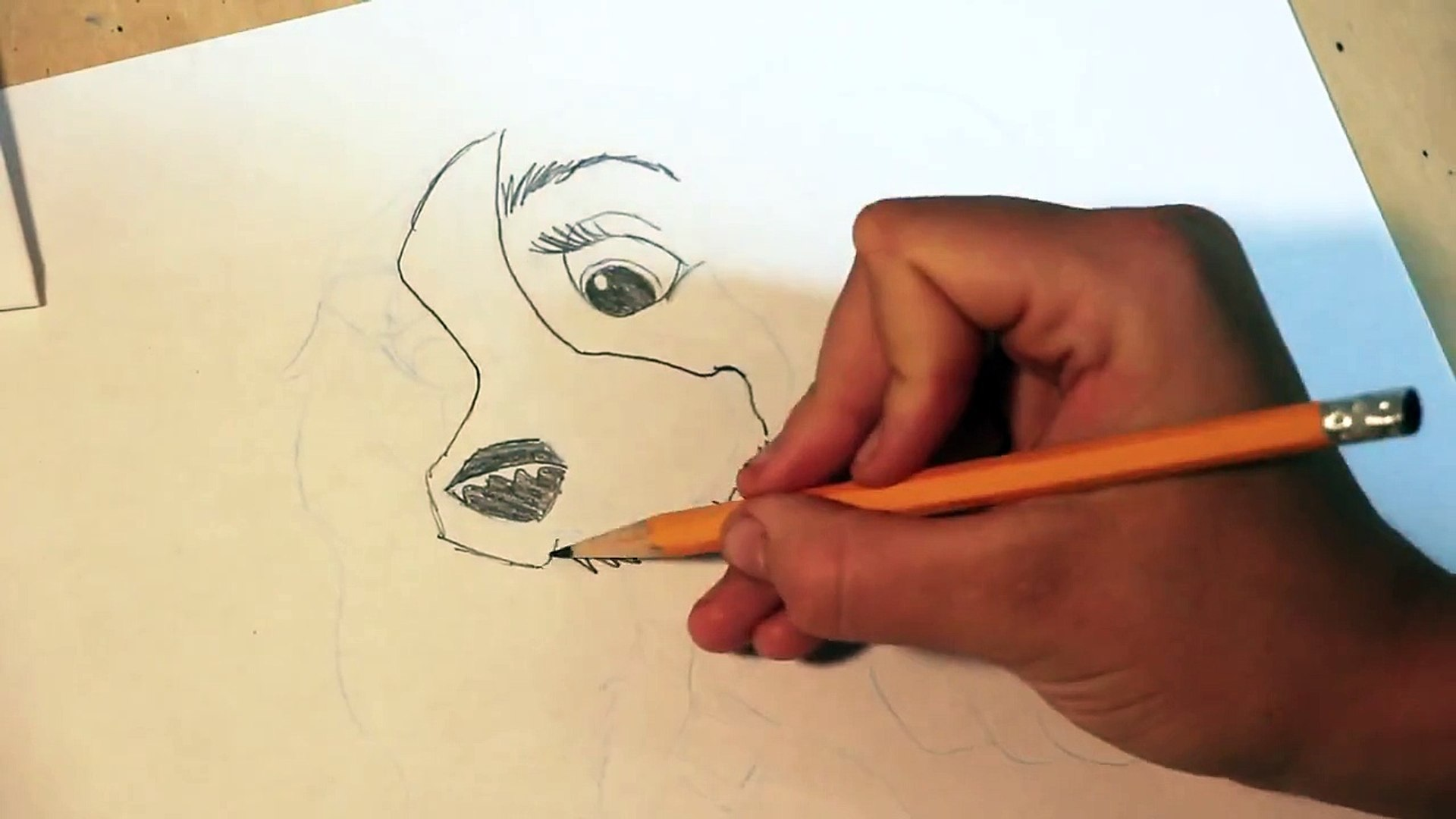 Disney Lady And The Tramp Drawing Tutorial Video Dailymotion