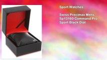 Swiss Precimax Mens Sp13160 Command Pro Sport Black Dial