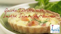 Apéritif à la française Salmon and Boursin Mini-Quiches