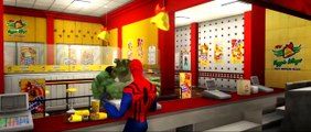 HULK, Spider-man & Iron Man [The Avengers] Epic Race Custom Lightning Mcqueen Ca