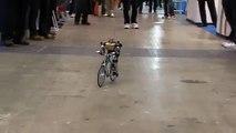 Robot rides a bike just like a man