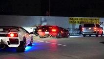 【首都高】深夜の辰巳にスーパーカー集団登場!/Full acceleration R8 and Supercars