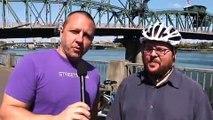 Streetfilms-Bike Traffic On the Hawthorne Bridge