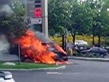 Car Fire in Graham Safeway gas station