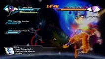 Dragon Ball Xenoverse Blazer Nova, SSJG Goku and SSJ4 Vegeta vs Beerus and Whis