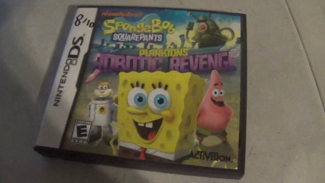 Spongebob Squarepants Planktons Robotic Revenge Nintendo Ds