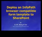 Deploy an InfoPath browser form template to SharePoint