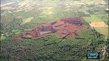 Mulsanne-Ruaudin : Les incendies de forêts vues du ciel
