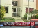Surco: Joven le arrancó un pedazo de oreja a su ex pareja tras fuerte discusión