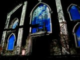 3D building projection, Old St. Patricks cathedral, festival of ideas nyc, mulberry st!