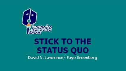 Karaoke Box - Stick To The Status Quo (In The Style Of / Al Estilo De : High School Musical)