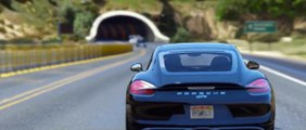 GTA 5 - 2016 Porsche Cayman GT4 Epic Police Chase (Cinematic)