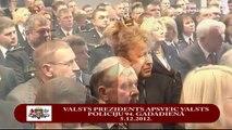 Valsts prezidents sveic Valsts policiju dibināšanas 94.gadadienā 05/12/2012