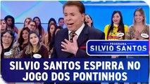 Silvio Santos espirra durante o Jogo dos Pontinhos