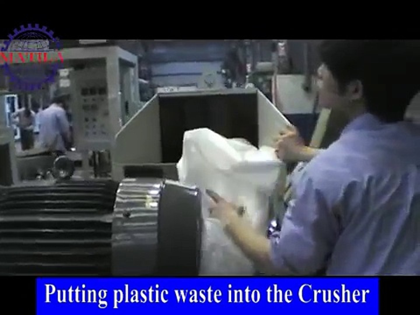 Plastic Waste Recycle Machine CR-70AWD series (automatic feeding water cooling)