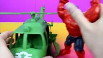 Marvel Avengers Assemble Red Hulk Rage Vs. Incredible HULK and Toy Story Sarge's helicopte