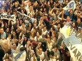 15 de JUN. Cristina Fernández habló con los militantes en los patios de la Casa Rosada