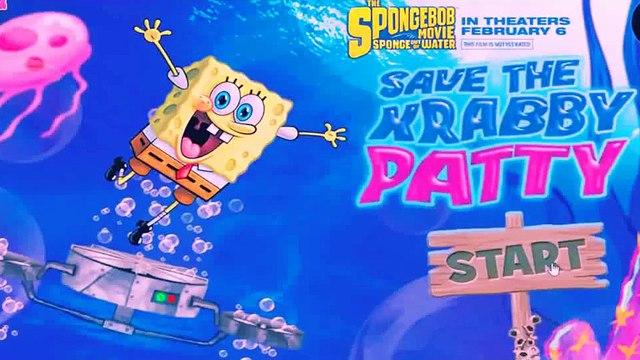 Spongebob Squarepants   Save The Krabby Patty   Spongebob Squarepants Fun Games