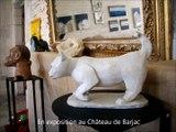 Les sculptures animalières de Monique Ballian dite NoiZette, sculpteur et peintre animalier français à Barjac (Gard)