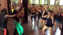 Dernier cours du stage d afro de l ecole Salsabor Paris ..on se lache