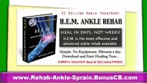 How to Heal a Sprained Ankle Fast - Ankle Sprain Rehab in Days