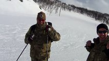Head Cam View from RAF Reserves Media Officer Nordic Skiing
