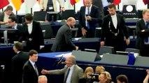 في البرلمان الاوروبي رئيس المفوضية الاوروبية يلقي خطاب احوال الإتحاد