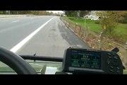 john Deere Gator XUV Haulin Arsse On Interstate Highway!
