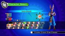 DRAGON BALL XENOVERSE gameplay goku ss god, ultimate gohan, and vegeta ssj4 vs beerus,whis,and vegit