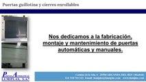 Puertas Automáticas Lumiplas - Puertas guillotina - Cierres enrollables