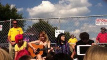Hey Violet acoustic hangout - Dancing With Myself (cover) - Hershey Satdium 8/29/15